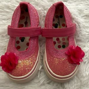 Toddler Sparkle Floral Mary Jane Shoes Size 8M